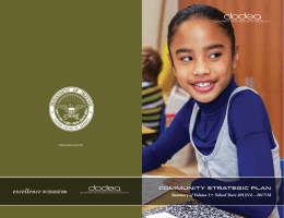 Community Strategic Plan Summary of Volume 1 • School