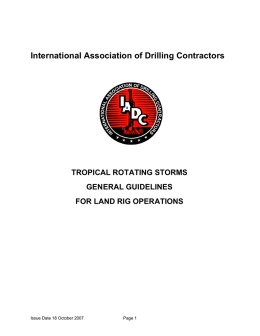 Tropical Rotating Storms Guidelines