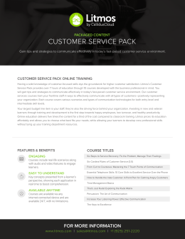 customer service pack
