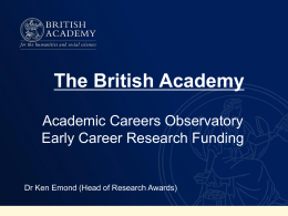 The British Academy, Ken Emond