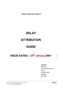 03 Delay Attribution Guide - 28 January 2007