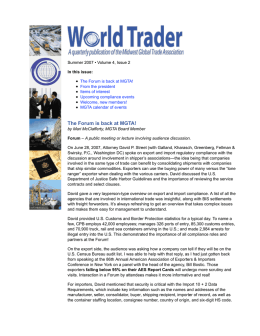 MGTA World Trader - Midwest Global Trade Association (MGTA)