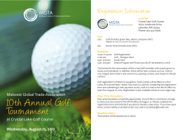 10th Annual Golf Tournament - International Traders of Iowa
