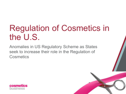 Regulation of Cosmetics in the US