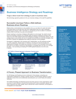 Business Intelligence Strategy and Roadmap