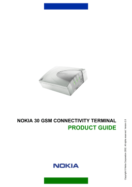 nokia 30 gsm connectivity terminal product guide