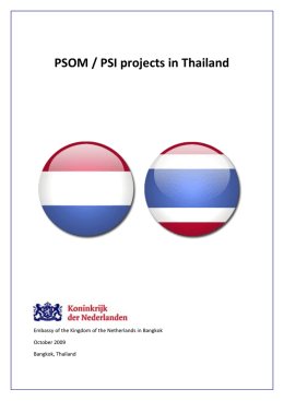 PSOM / PSI projects in Thailand