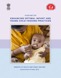 enhancing optimal infant and young child feeding practices