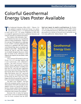 Colorful Geothermal Energy Uses Poster Available
