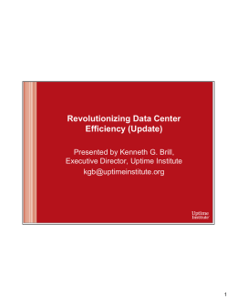 Revolutionizing Data Center Efficiency