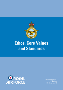 Ethos, Core Values and Standards