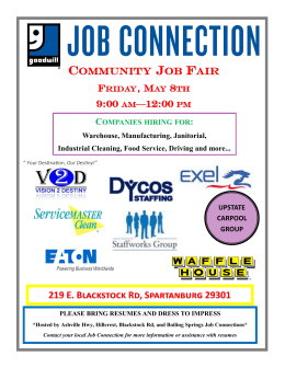 Blackstock Rd. (Spartanburg) Job Connection