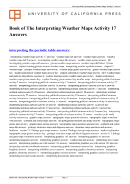 Interpreting Weather Maps Activity 17 Answers