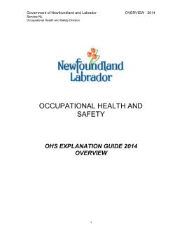 occupational health and safety - Government of Newfoundland and