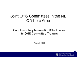 Joint OHS Committees in the NL Offshore Area - c