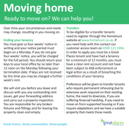 Moving home - Great Places