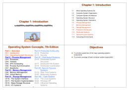 Chapter 1: Introduction Operating System Concepts, 7th Edition