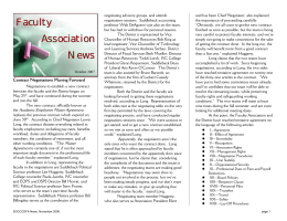 Faculty Association News - SOCCCD Faculty Association
