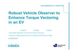 Robust Vehicle Observer to Enhance Torque Vectoring in