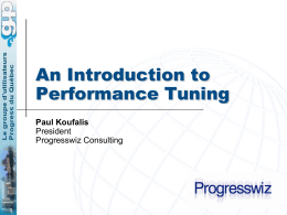 Intro to Perf Tuning