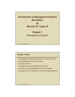 Introduction to Management Science 8th Edition by Bernard W