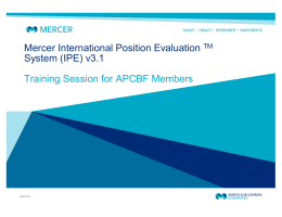 Mercer International Position Evaluation TM System