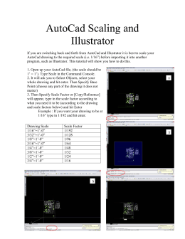 AutoCad Scaling and Illustrator