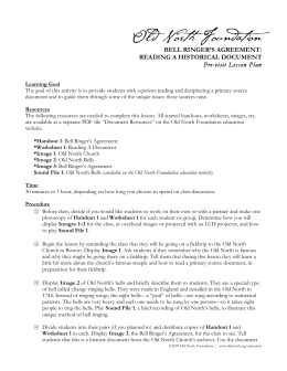 Lesson Plan PDF - Old North Church