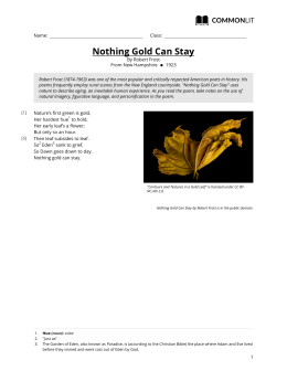 CommonLit | Nothing Gold Can Stay