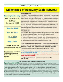 Milestones of Recovery Scale (MORS)