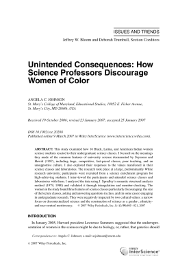 Unintended consequences: How science professors