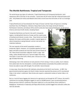 The Worlds Rainforests: Tropical and Temperate