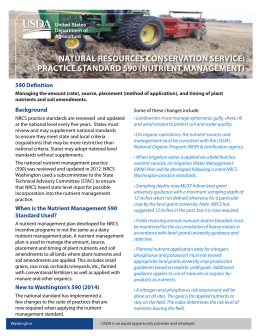 Revised 590 Fact Sheet - Natural Resources Conservation Service