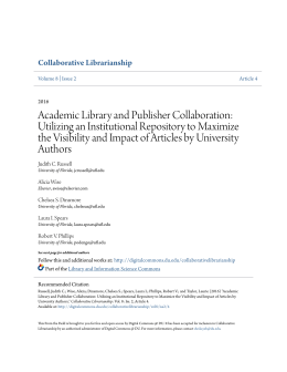 Academic Library and Publisher Collaboration