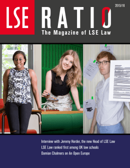 Interview with Jeremy Horder, the new Head of LSE Law LSE Law