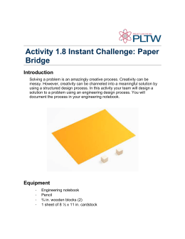 Activity 1.8 Instant Challenge: Paper Bridge