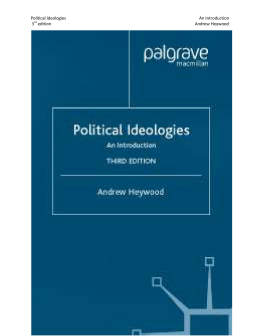 Political Ideologies An Introduction 3rd edition Andrew Heywood