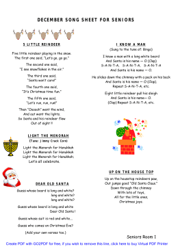 december song sheet for seniors