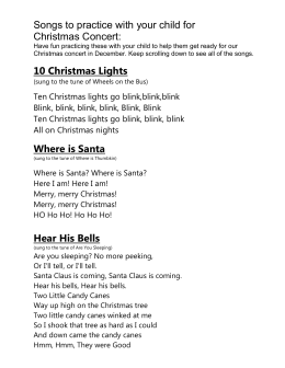 Songs to practice with your child for Christmas Concert: 10
