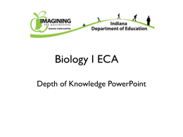 Biology | Depth of Knowledge PowerPoint