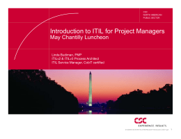 Presentation: ITIL for Project Managers