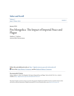 Pox Mongolica: The Impact of Imperial Peace and Plague