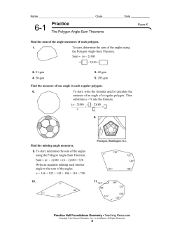 6 1 Practice Angles Of Polygons