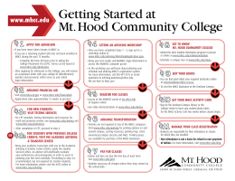 Getting Started at Mt. Hood Community College