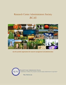 Research Center Administrators Society RCAS
