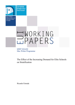 The Effect of the Increasing Demand for Elite Schools on Stratification