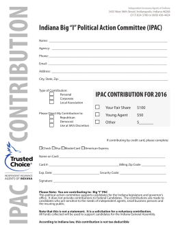 "Indiana Big ""I"" Political Action Committee (IPAC)"