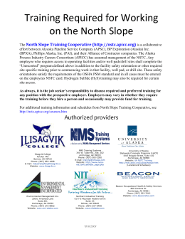 15-A North Slope Safety Training
