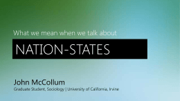 Nation-States - UCI Social Sciences