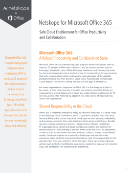 Netskope for Microsoft Office 365